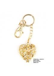 porte clé coeur doré L1469-001