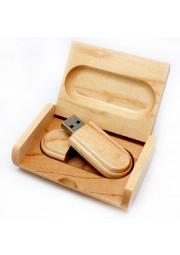 usb 8Go en bois avec boitier en bois