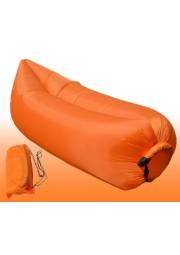 Matelas gonflable en nylon bleu et orange D3810-001 (3)