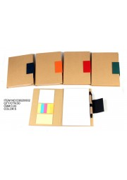 Bloc note eco carton avec post it + stylo A5 D3820-002