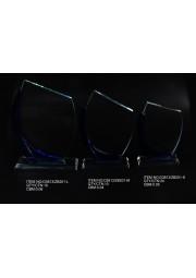 Trophée en cristal arc bleu D3813-ZB201-S.M.L
