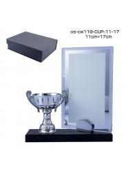 trophée cristal avec statue coupe  D20171107-39