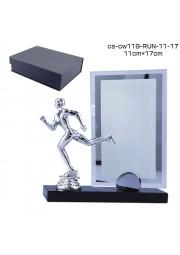trophée cristal avec statue de courreur RUN D20171107-38