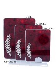 Trophée cristal rectangulaire avec plume effet bois rouge D20171107-32