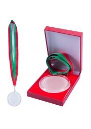 Medaille en cristal avec boitier en satin D20171107-40