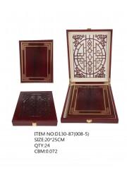 Trophée plaque bois mandarin GM D130-87