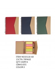 carnet eco POST IT spirale D118-60