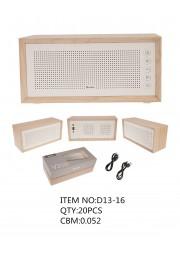 Haut parleur bluetooth eco bois D13-16