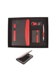 Coffret 4pcs note book porte carte porte clé et stylo D115-46 (1)