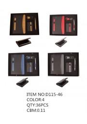 Coffret 4pcs note book porte carte porte clé et stylo