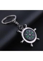 Porte clés métal boussole