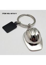 Porte clés casque chantier métal