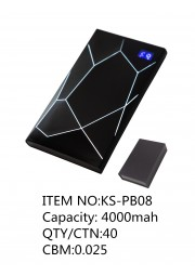 Powerbank diamant lumineux 4000mah