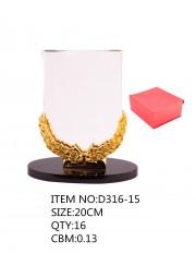 Trophée en cristal avec epi doré
